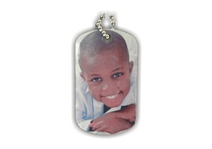 Sublimated Photo Keychain. Can be made 2 sided with your child's name, a message, or a second photo on the back!