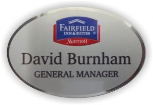 Silver Preferred Oval Employee Name Tag