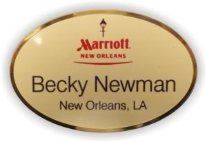 Gold Preferred Oval Name Tag