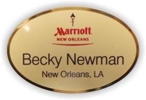 Gold Preferred Oval Name Tag