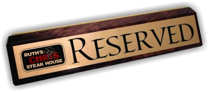 Table Top Wooden Reserved Sign