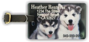 Custom Photo Luggage Tag: Can be customized with your family photo, any information you wish, and be as creative as you can imagine!