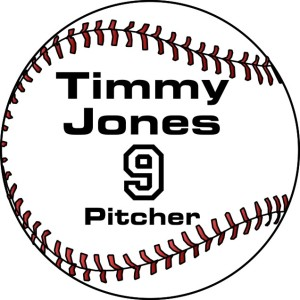 Baseball sports bag name Tag