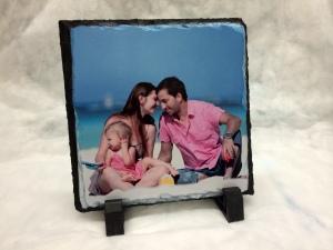 photo printed on slate stone