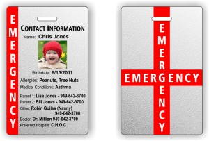 Child Safety ID tag