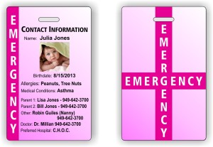 Child emergency information