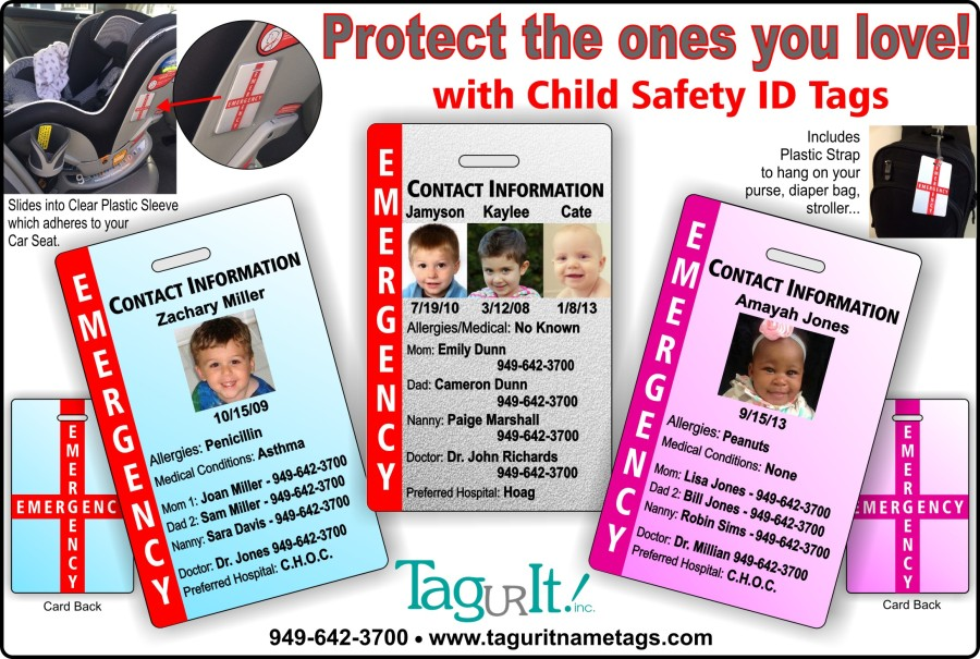 Have you ordered your Child Safety ID Tags yet???