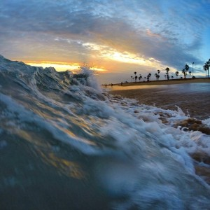 Playing in the shore break with the GoPro Hero 3+ Black Edition, mounted using the GoPro Wrist housing!
