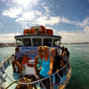 The Tag Team, photographed with our GoPro Hero 3+ Black Edition using XShot 2.0 Camera Extender, about to embark on a whale watch off the coast of Newport Beach, CA!