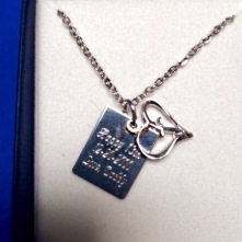 Personalized custom engraved necklace