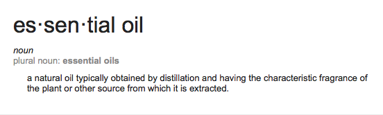 essential oil definition