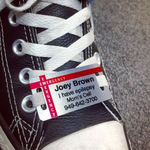 Our child safety shoe tag is a great tool for sharing allergy information!
