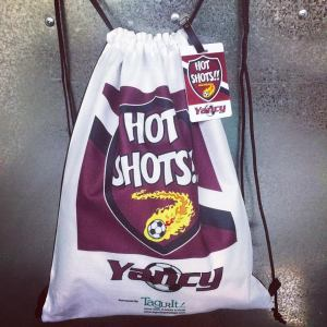custom sports bag and name tag
